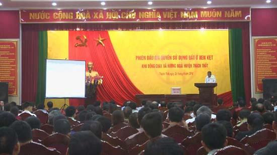 Đầu giá quyền sử dụng đất ở xen kẹt tại khu Đồng Cháy, xã Hương Ngải