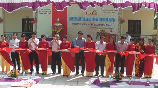 Lễ khánh thành nhà hiệu bộ trường mầm non xã Hương Ngải