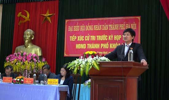 HĐND thành phố Hà Nội tiếp xúc cử tri huyện Thạch Thất trước kỳ họp thứ 11