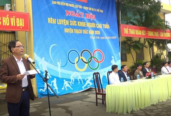 Sôi nổi Ngày hội rèn luyện sức khỏe người cao tuổi huyện Thạch Thất năm 2020