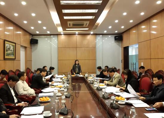 Ban đại diện Hội đồng quản trị Ngân hàng CSXH huyện  họp đánh giá kết quả hoạt động năm 2020