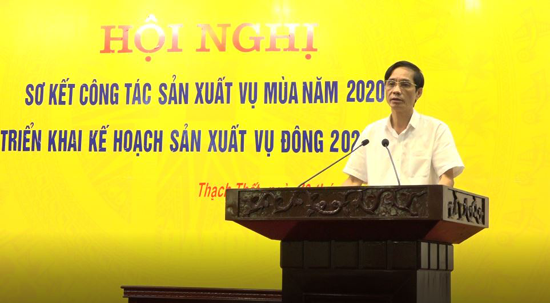Hội nghị sơ kết sản xuất vụ Mùa, triển khai kế hoạch sản xuất vụ Đông năm 2020-2021