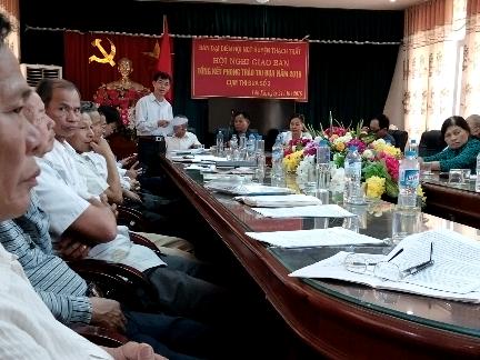 Hội Người cao tuổi (NCT) Thạch Thất tổ chức tổng kết phong trào thi đua cụm số 3.