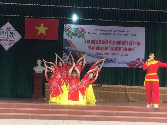 Trường THPT Thạch Thất tổ chức kỷ niệm ngày Nhà giáo Việt Nam 20/11