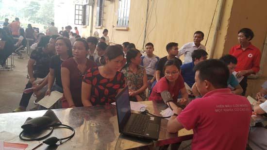 Hiến máu tình nguyện đợt 5- tại cụm xã Bình Phú, Hữu Bằng, Phùng Xá, Cần Kiệm, Thạch Xá