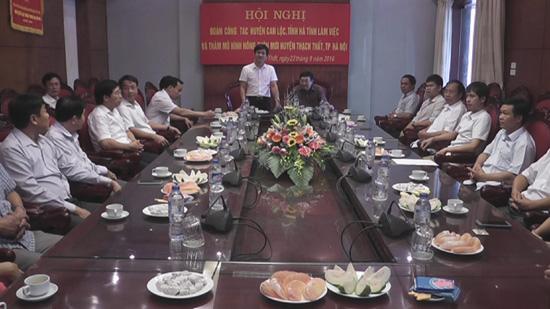 Đoàn công tác huyện Can Lộc tỉnh Hà Tĩnh tham quan, học tập và trao đổi kinh nghiệm xây dựng nông thôn mới tại Thạch Thất