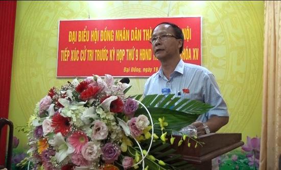 Đoàn Đại biểu HĐND thành phố Hà Nội tiếp xúc với cử tri huyện Thạch Thất
