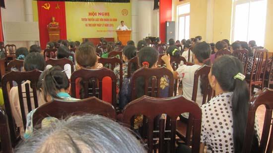 Thạch Hòa trên 200 hội viên phụ nữ được tuyên truyền về pháp luật