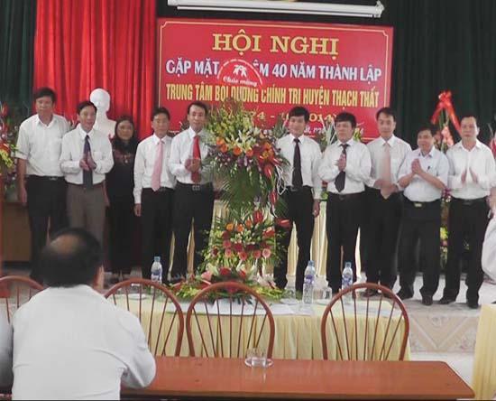 Trung tâm Bồi dưỡng Chính trị huyện Thạch Thất kỷ niệm 40 năm ngày thành lập