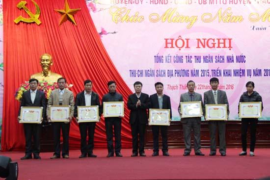 Huyện Thạch Thất tổng kết công tác thu ngân sách nhà nước, thu chi ngân sách địa phương năm 2015