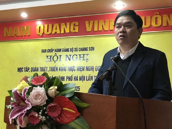 Đảng bộ xã Chàng Sơn học tập, quán triệt Nghị quyết Đại hội Đại biểu Đảng bộ Thành phố Hà Nội lần thứ XVII nhiệm kỳ 2020 - 2025