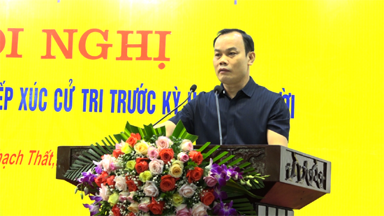 Đoàn Đại biểu Quốc hội thành phố Hà nội tiếp xúc cử tri huyện Thạch Thất trước Kỳ họp thứ 10