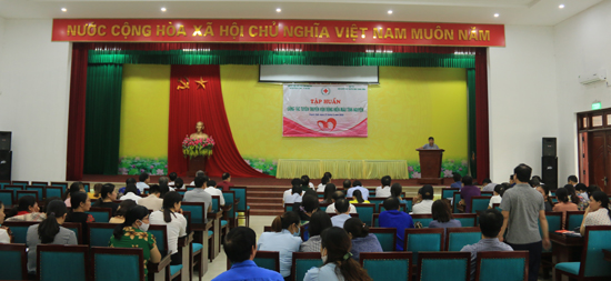 Hội nghị tập huấn công tác tuyên truyền hiến máu  tình nguyện