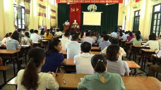 Thạch Thất tổ chức lớp Bồi dưỡng công tác Văn phòng cấp ủy năm 2020