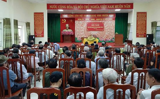 Tuyên truyền thực hiện việc tang văn minh, tiến bộ tại xã Hữu Bằng