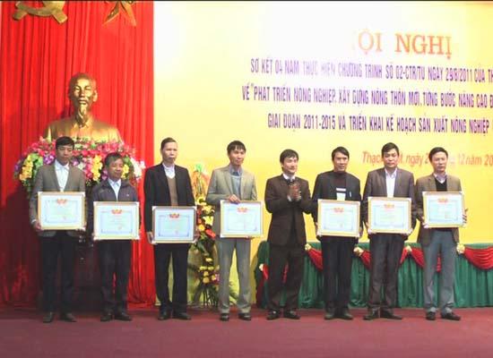 Huyện Thạch Thất sơ kết 4 năm thực hiện chương trình số 02 của Thành ủy Hà Nội về phát triển nông nghiệp- xây dựng nông thôn mới giai đoạn 2011- 2015.