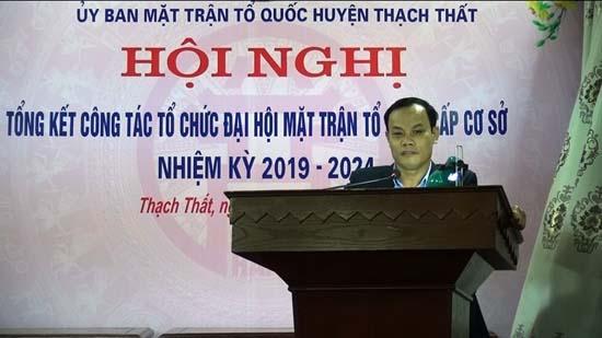 Ủy ban MTTQ huyện tổng kết công tác tổ chức Đại hội cấp cơ sở
