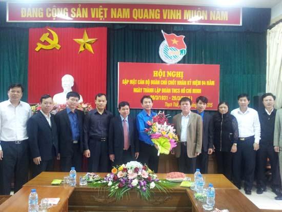 Huyện đoàn Thạch Thất gặp mặt cán bộ đoàn chủ chốt nhân kỷ niệm 84 năm ngày thành lập đoàn thanh niên cộng sản Hồ Chí Minh