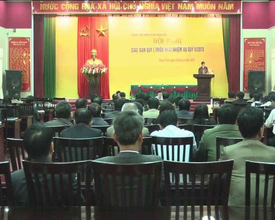 Hội đồng nhân dân  huyện Thạch Thất tổ chức hội nghị giao ban quý 1, triển khai nhiệm vụ quý 2/2015