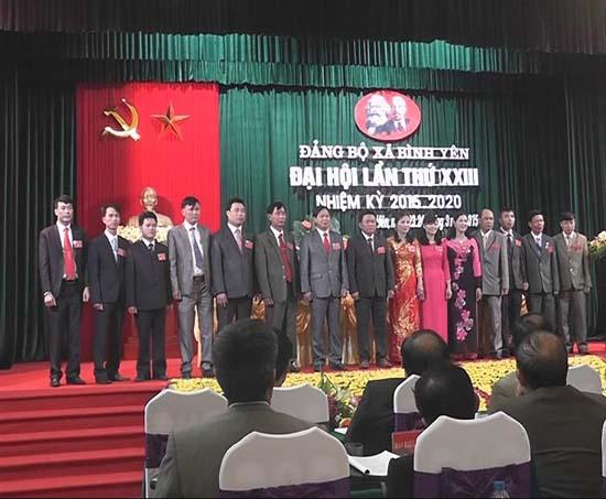 Đại hội Đảng bộ xã Bình Yên nhiệm kỳ 2015- 2020.