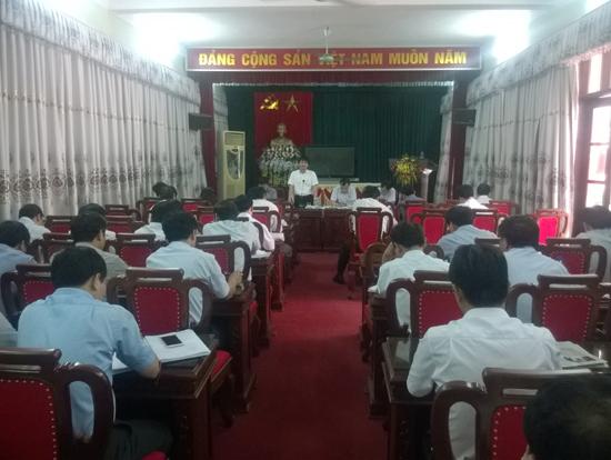 Hội nghị báo cáo công tác chuẩn bị Đại hội Đảng bộ huyện Thạch Thất lần thứ 23 nhiệm kỳ 2015 – 2020