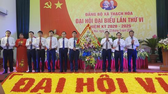 Đảng bộ xã Thạch Hòa long trọng tổ chức Đại hội Đại biểu Đảng bộ xã, nhiệm kỳ 2020- 2025
