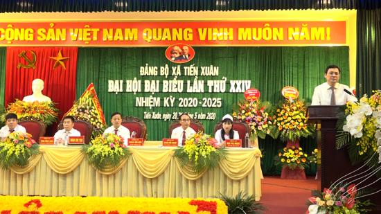 Đại hội Đại biểu Đảng bộ xã Tiến Xuân, nhiệm kỳ 2020- 2025