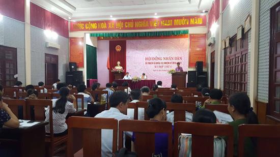 Kỳ họp thứ 8- HĐND xã Thạch Xá