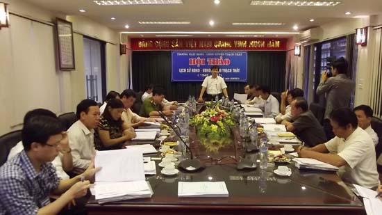 """Hội thảo cuốn sách """" Lịch sử HĐND – UBND huyện Thạch Thất giai đoạn 1945 – 2012"""""""