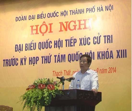 Đại biểu Quốc hội tiếp xúc cử tri huyện Thạch Thất trước kỳ họp thứ 8 khóa 13.