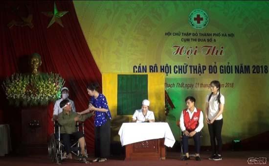 """Hội thi """"Cán bộ Hội Chữ thập đỏ cơ sở giỏi"""" thành phố Hà Nội năm 2018"""