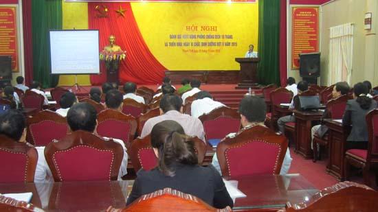 Hội nghị đánh giá về công tác phòng chống dịch.
