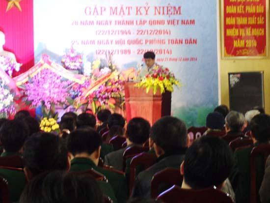 Đại Đồng tổ chức gặp mặt kỷ niệm 70 năm thành lập Quân đội nhân dân Việt Nam.