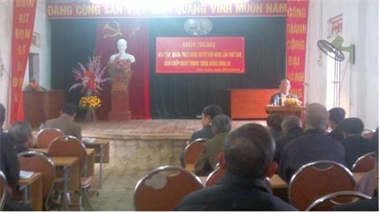 Đảng bộ xã Tiến Xuân tổ chức hội nghị học tập quán triệt Nghị quyết TW 8.