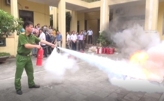 Thạch Thất tập huấn phòng cháy chữa cháy, cứu nạn cứu hộ năm 2020