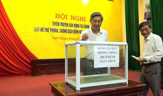 Thạch Thất phát động ủng hộ Quỹ phòng chống dịch bệnh nguy hiểm năm 2018