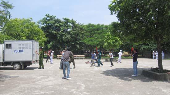 Xã Canh Nậu- huyện Thạch Thất diễn tập chiến đấu trị an cấp xã.