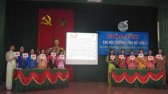 Thạch Thất tổ chức hội thi Chi hội trưởng phụ nữ giỏi- vòng thi sơ khảo cụm 1