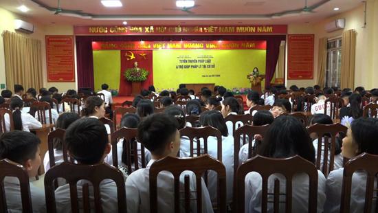 170 học sinh trường THCS Chàng Sơn được tuyên truyền, phổ biến giáo dục pháp luật