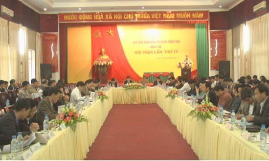 Hội nghị lần thứ 19 BCH Đảng bộ huyện Thạch Thất khóa 22.