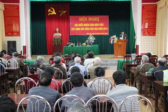 Hội nghị đại biểu nhân dân xã Cẩm Yên năm 2015.