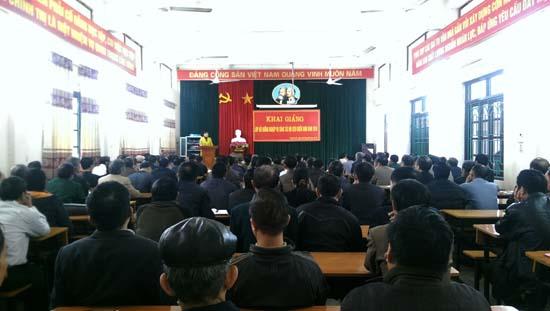 Khai giảng lớp bồi dưỡng nghiệp vụ công tác cựu chiến binh năm 2016.