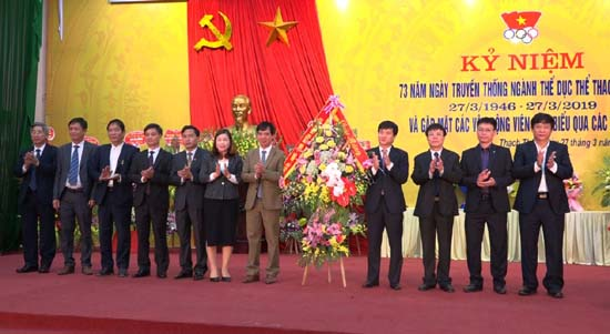 UBND huyện Thạch Thất tổ chức kỷ niệm 73 năm ngày truyền thống ngành Thể dục Thể thao Việt Nam
