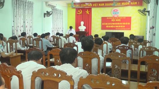Hội Nông dân huyện Thạch Thất sơ kết công tác hội 6 tháng đầu năm 2016 và triển khai phương hướng nhiệm vụ 6 tháng cuối năm 2016.