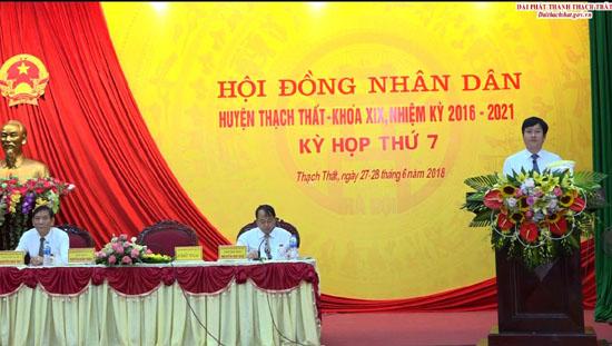 Kỳ họp thứ 7- HĐND huyện Thạch Thất khoá XIX,  nhiệm kỳ 2016 - 2021