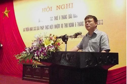 Hội nghị sơ kết công tác thuế huyện Thạch Thất 6 tháng đầu năm 2013
