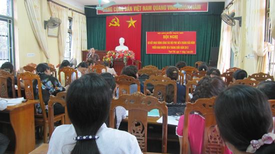 Hội LHPN huyện Thạch Thất triển khai nhiệm vụ những tháng cuối năm 2013
