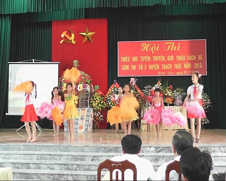 Hội thi tuyên truyền giới thiệu sách hè tại cụm số 2 huyện Thạch Thất