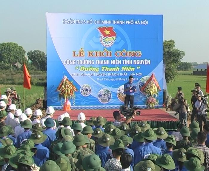 Lễ khởi công công trường thanh niên tình nguyện tại xã Phùng Xá- huyện Thạch Thất