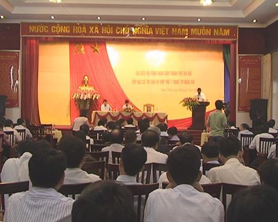Hội nghị tiếp xúc cử tri hội đồng nhân dân thành phố với cử tri huyện Thạch Thất